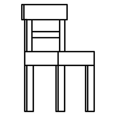Wooden chair isolated icon vector illustration design Illustration