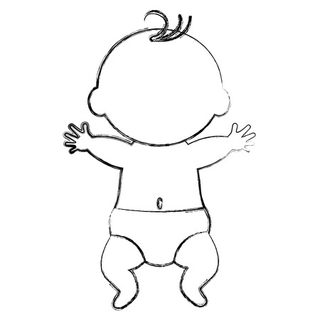 little boy baby icon vector illustration design