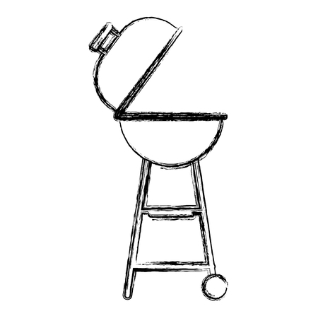 barbeque grill isolated icon vector illustration design
