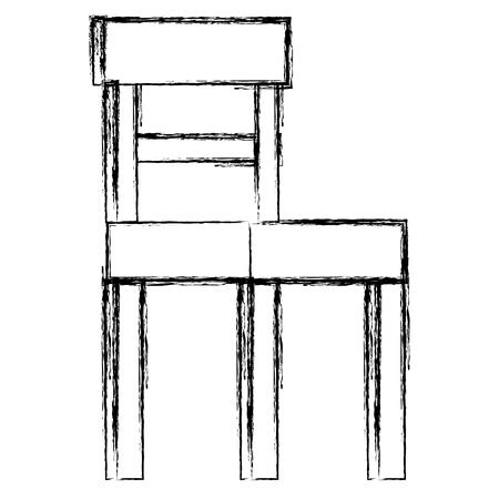 Diseño aislado del ejemplo del vector del icono de la silla de madera Foto de archivo - 98686769