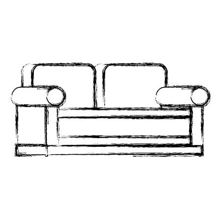 Progettazione dell'illustrazione di vettore dell'icona isolata sofà comodo Archivio Fotografico - 98686771