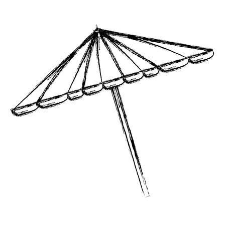 picnic umbrella isolated icon vector illustration design Stock Vector - 98644566