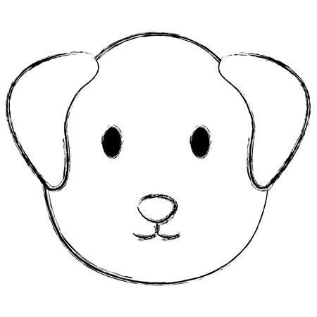 cute dog head pet friendly vector illustration design
