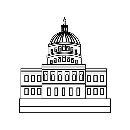 united states capitol building in washington dc vector illustration