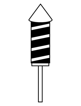 rocket fireworks event festival celebration vector illustration Illustration