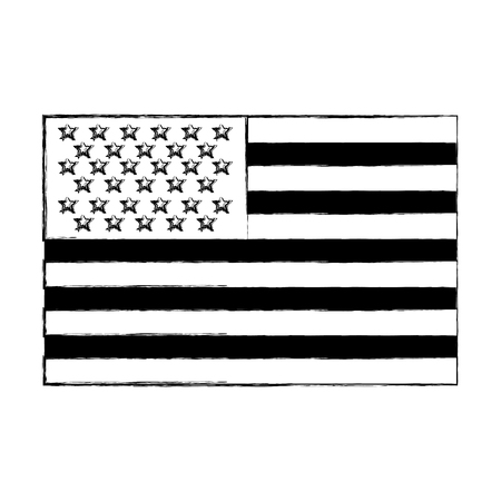 usa flag official colors and proportion national vector illustration vector illustration