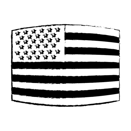 USA flag. official colors and proportion correctly. National United State of America flag. Vector illustration of american flag. vector illustration