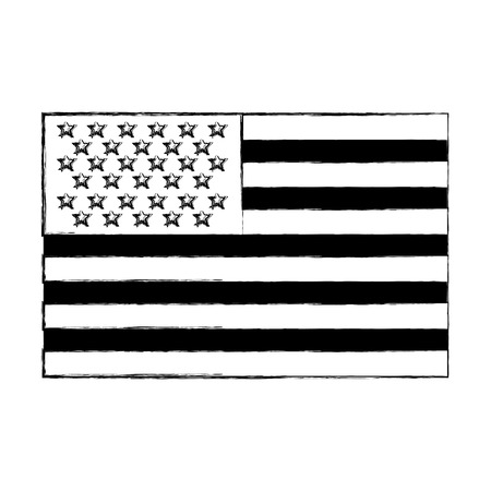 usa flag official colors and proportion national vector illustration vector illustration sketch Illustration