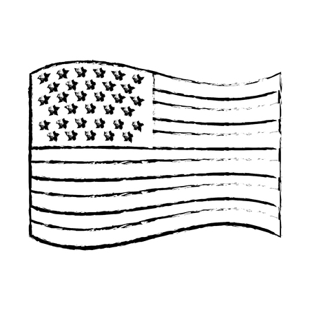 usa flag official and proportion national vector illustration vector illustration sketch Stock Vector - 98732468