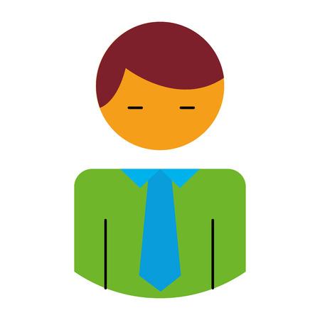 businessman character avatar icon vector illustration design Illusztráció