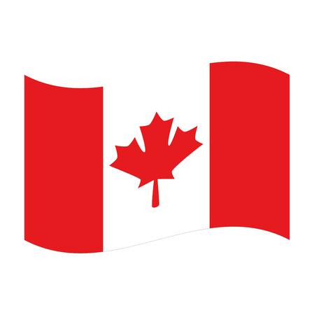 Profilo dell'illustrazione di vettore dell'icona del paese della bandiera canadese Archivio Fotografico - 98744015
