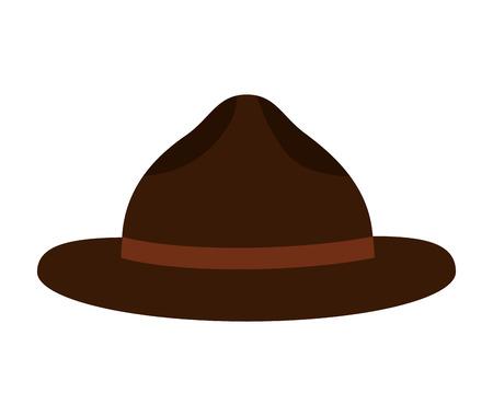 hat for men accessory vector illustration design