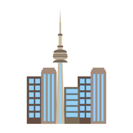toronto canada city scene vector illustration design