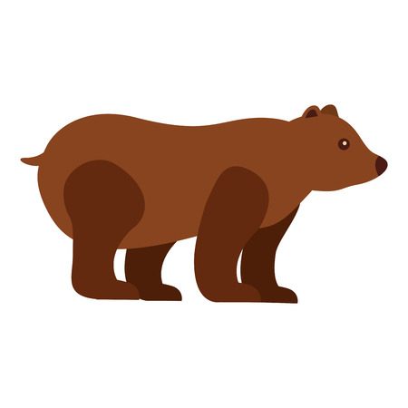 grizzly bear wild icon vector illustration design