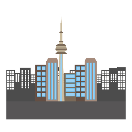 toronto canada city scene vector illustration design