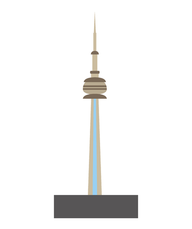toronto city tower icon vector illustration design