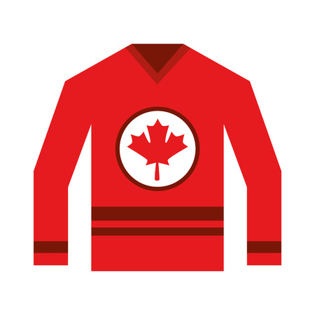 canadian jersey with flag canadian vector illustration design Ilustração