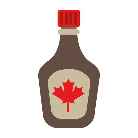 Bottle syrup maple icon vector illustration design. Illustration