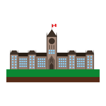 ottawa canada parliament building facade vector illustration design Vectores