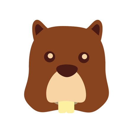 Beaver head animal icon vector illustration design.  イラスト・ベクター素材