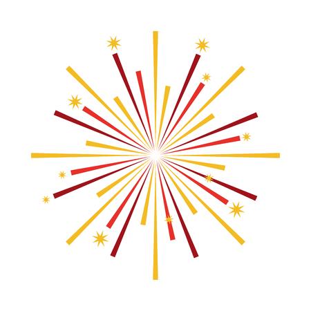 fireworks starburst pattern background vector illustration design