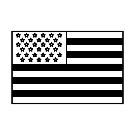 usa flag official colors and proportion national vector illustration vector illustration black and white Illustration