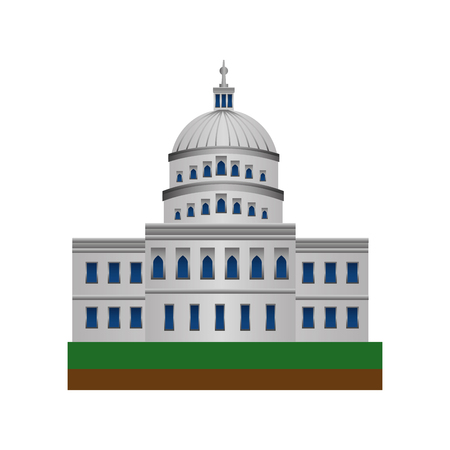 american parliament building icon vector illustration design 向量圖像