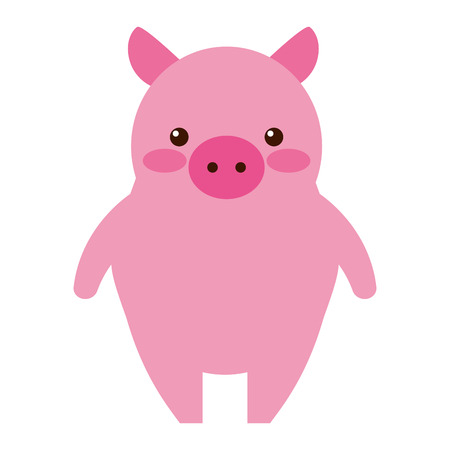 cute little pig icon vector illustration design