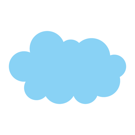 cloud in the sky icon vector illustration design  イラスト・ベクター素材