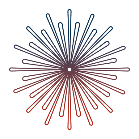 fireworks burst isolated icon vector illustration design
