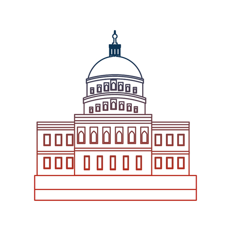 american parliament building icon vector illustration design Illusztráció