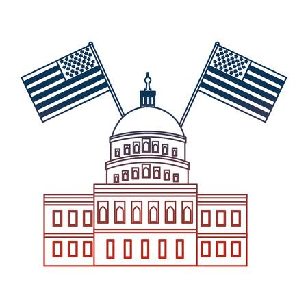 플래그 벡터 일러스트 레이 션 디자인 미국 의회 건물 스톡 콘텐츠 - 98872209