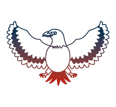 united states of america eagle vector illustration design