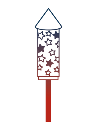 fireworks rocket celebration icon vector illustration design