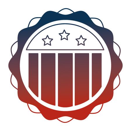 united states of america lace vector illustration design Ilustracja
