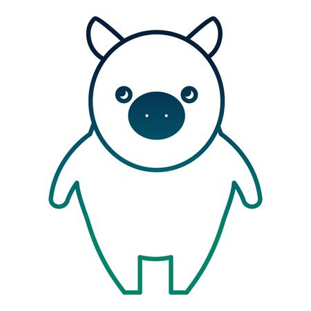 Nette kleine Schwein Symbol Vektor-Illustration Design Standard-Bild - 98873728