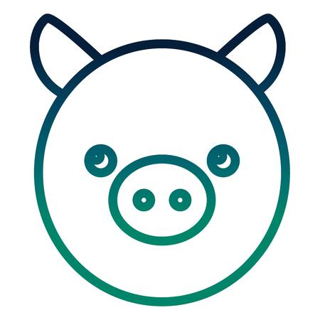 cute little pig head vector illustration design Illustration