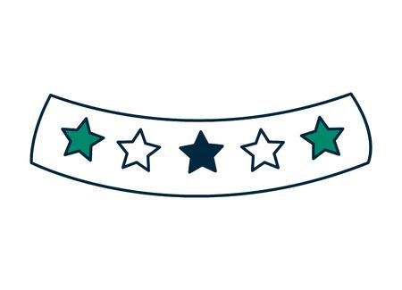 星アイコンベクトルイラストデザインのリボン