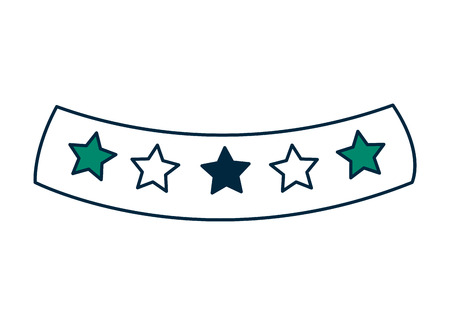 ribbon with stars icon vector illustration design