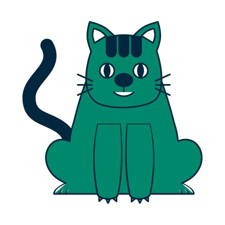 cute little cat icon vector illustration design Illustration