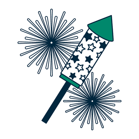 fireworks rocket celebration icon vector illustration design