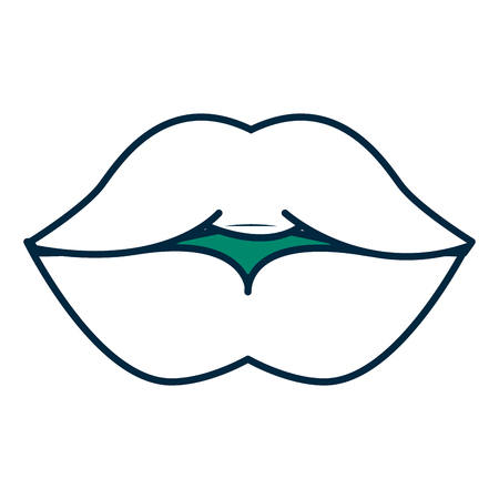 lips femenine isolated icon vector illustration design