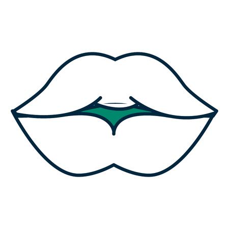 lips femenine isolated icon vector illustration design