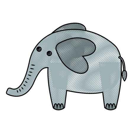 cute elephant african animal image vector illustration drawing