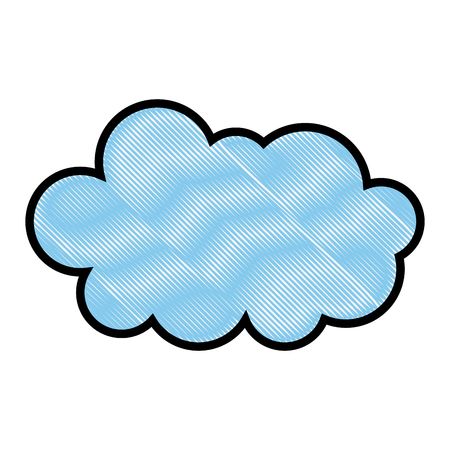 cloud weather climate cumulus icon vector illustration drawing Çizim