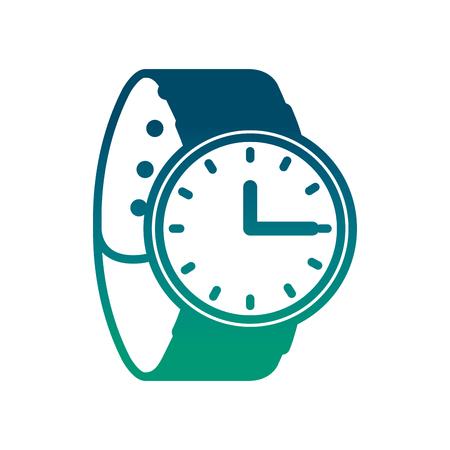 手首ウォッチ時間アクセサリートレンディベクトルイラスト劣化緑の色  イラスト・ベクター素材