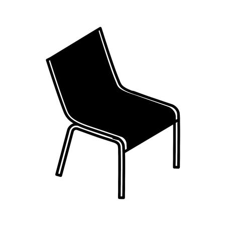 デッキチェアビーチ供給家具アイコンベクトルイラスト