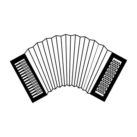 accordion musical instrument sound icon vector illustration
