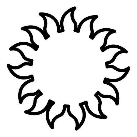 sun summer climate tropical concept vector illustration