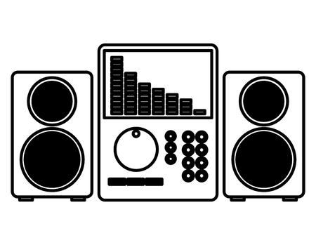 music audio sound speakers equipment vector illustration
